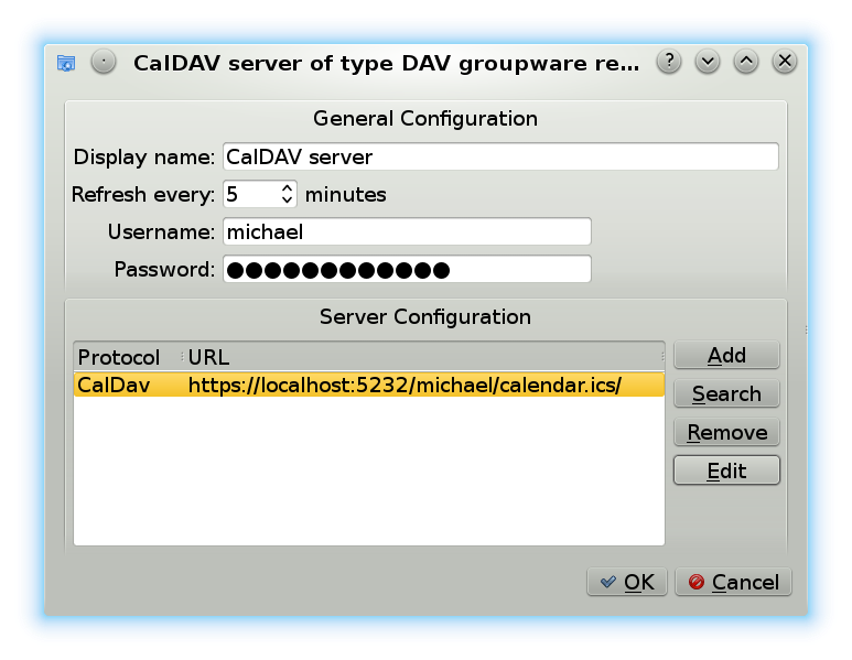 CalDAV server set up on Debian
